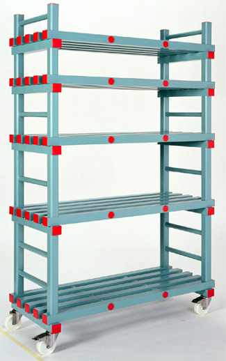 Hygienic Plastic Shelving And Dollies Containerwise